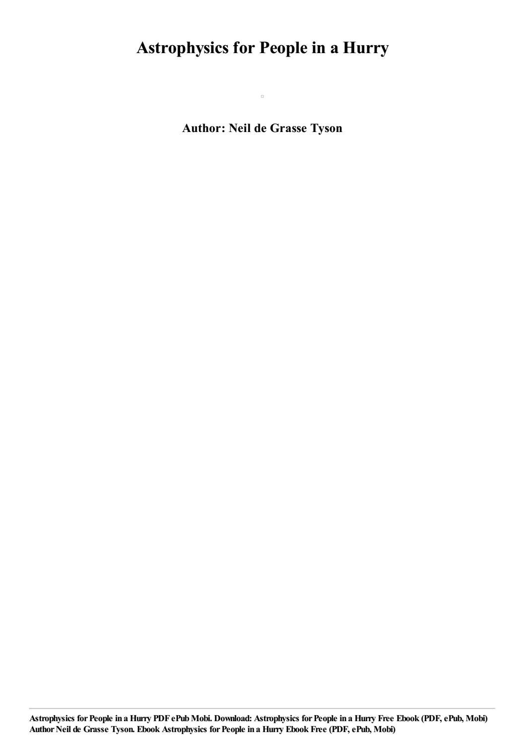 astrophysics for people in a hurry epub