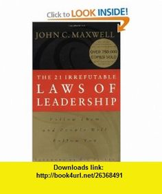 the 21 irrefutable laws of leadership epub