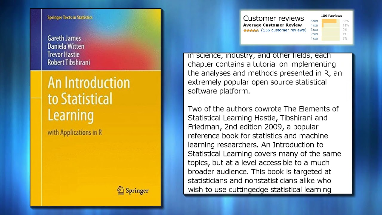an introduction to statistical learning epub