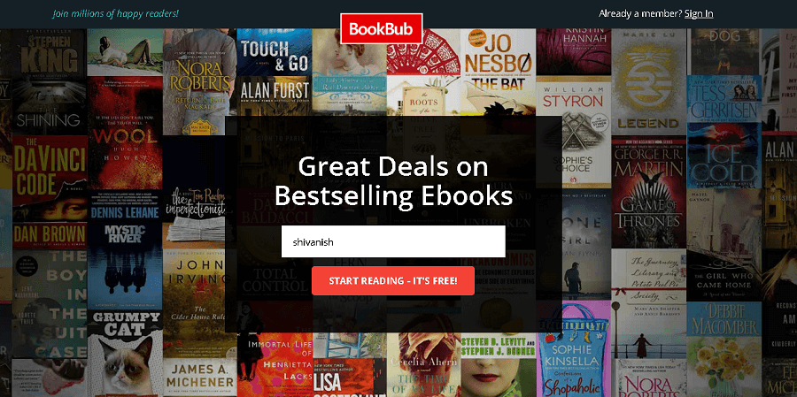 bookbub free ebooks for kindle