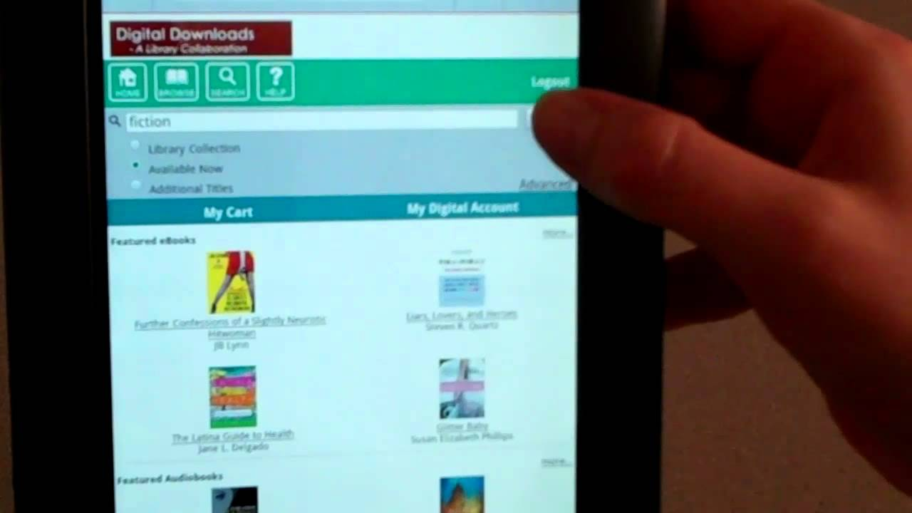 how to download ebook from library to nook