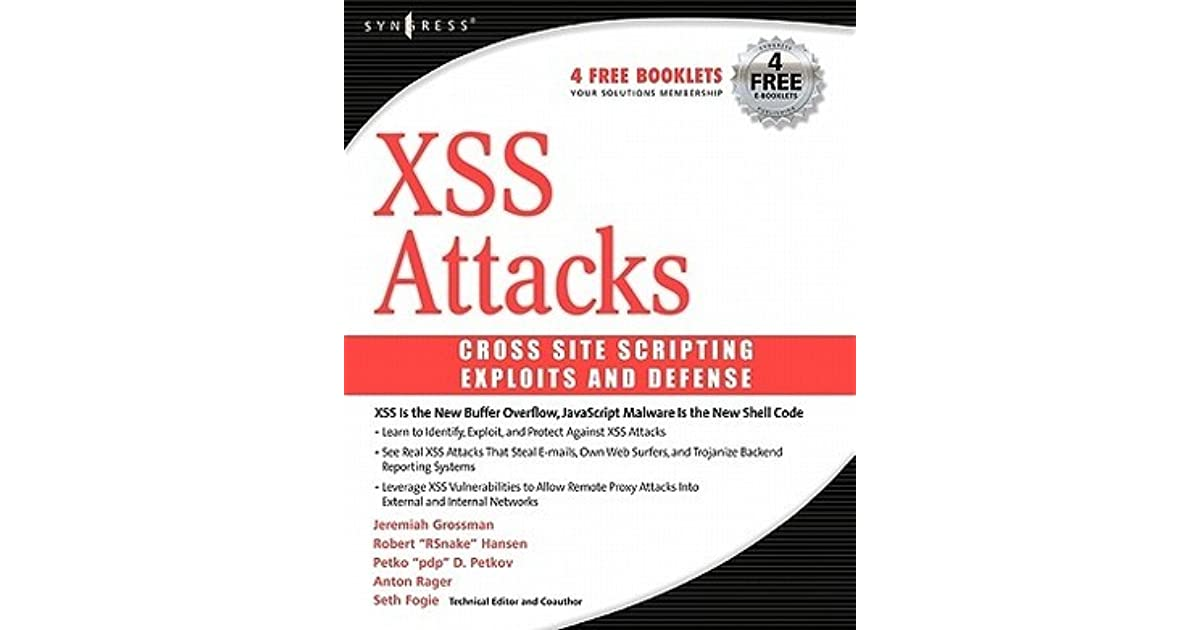 xss attacks cross site scripting exploits and defense ebook